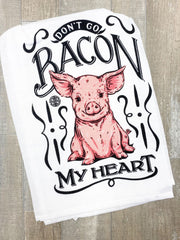 'Don't Go Bacon My Heart' Pig Printed Dish Towel by Simply Southern