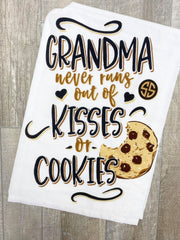 'Grandma Never Runs Out of Kisses or Cookies' Printed Dish Towel by Simply Southern
