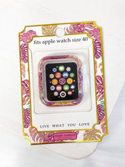 Apple Watch 40mm Screen Bumper by Simply Southern - Pink Palm Leaves