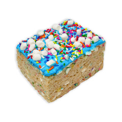 Jumbo Birthday Cake Rice Krispie Treat
