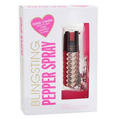 Rose Gold Metallic Studded Pepper Spray