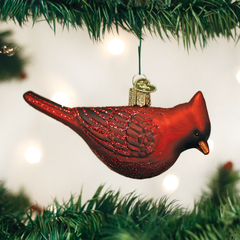 Glass Blown Ornaments - Northern Cardinal