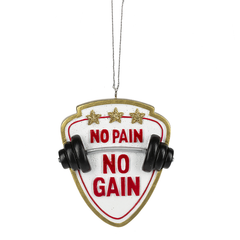 'No Pain No Gain' Gym Ornament