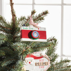 Santa Cam Ornament by Mud Pie - Choice of Color