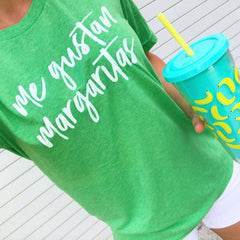 'Me Gustan Margaritas' Signature Graphic Tee by Prep Obsessed