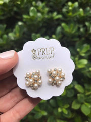 Preppy Pearl Cluster Studs