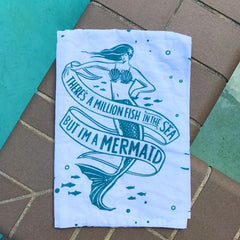 But I'm a mermaid kitchen towel