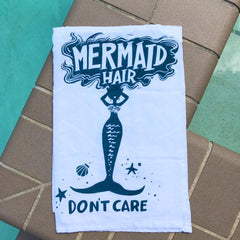 Mermaid hair don't care kitchen towel by PBK