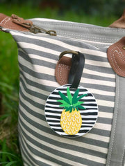 Striped Pineapple Luggage Tags- Choice of Color