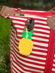 Textured Pineapple Luggage Tags - Choice of Color