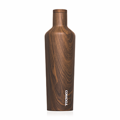 25 oz Stainless Steel Canteen by Corkcicle - Walnut Wood