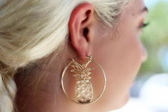 Pineapple Icon Hoops