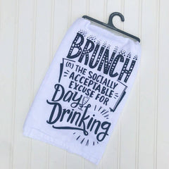 Brunch Day Drinking Kitchen Towel by PBK