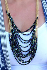 Melora Layered Beaded Necklace - Mermaid