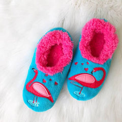 Flamingo House Slippers by Snoozies