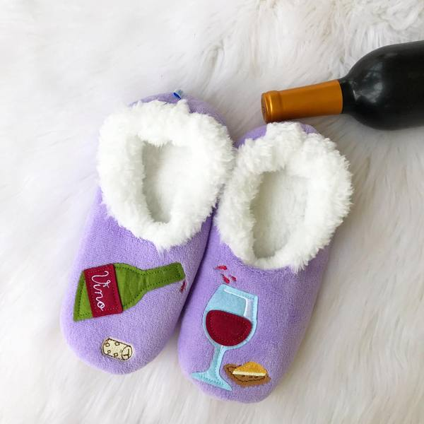 bc8c73b2459 Snoozies! Slippers - Wine O Clock Purple – Prep Obsessed