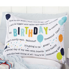 Birthday Boy Pillowcase By Mud Pie
