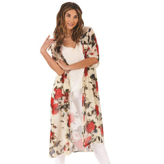 Rustic Rose Long Floral Duster