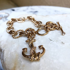 Toggle Anchor Charming Bracelet