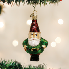 Glass Blown Ornament - Gnome