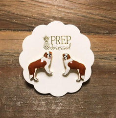 Signature Pet Enamel Studs by Prep Obsessed - Saint Bernard