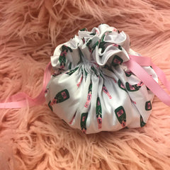 champagne pajama jewelry gift pouch
