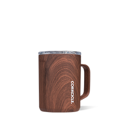 16 oz Stainless Steel Mug by Corkcicle - Walnut Wood