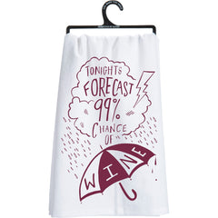 '99% Chance Of Wine' Kitchen Towel by PBK