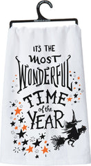 'Most Wonderful Time Of The Year' Halloween Kitchen Towel by PBK