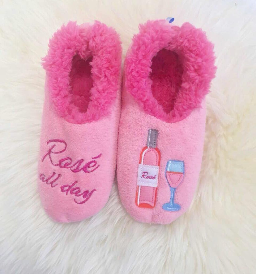 b59ee80e576 Snoozies! Slippers - Rosé All Day – Prep Obsessed