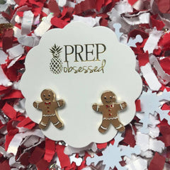 Gingerbread Cookie Enamel Studs by Prep Obsessed