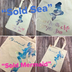 mermaid canvas tote by prep obsessed