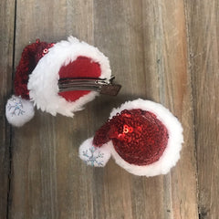 Final Sale: Sequin Santa Hat Hair Clip