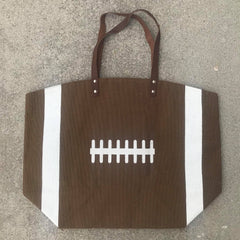 Final Sale: Jute Football Tote