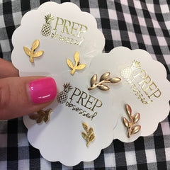 Final Sale: Leaf Stud - Assorted Styles