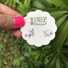 Signature Pet Enamel Studs by Prep Obsessed - Bulldog