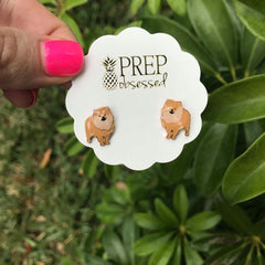 Signature Pet Enamel Studs by Prep Obsessed - Pomeranian