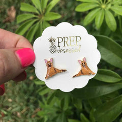 Signature Pet Enamel Studs by Prep Obsessed - German Shepherd