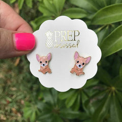 Signature Pet Enamel Studs by Prep Obsessed - Chihuahua
