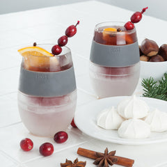 Wine FREEZE Cooling Stemless Wine Glasses (set of 2) by HOST