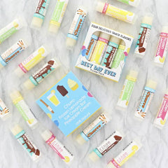 'Best Day Ever' Assorted Lip Balms - Churro, Frozen Lemonade, Ice Cream Bar & Pineapple Cream by Rinse