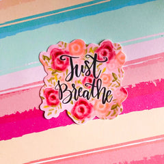'Just Breathe' Packaged Vinyl Decal Sticker