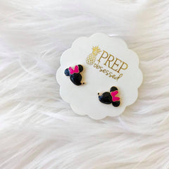 Minnie Mouse studs by PLM and Prep Obsessed