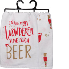 It's the Most Wonderful Time for a Beer Kitchen Christmas Towel