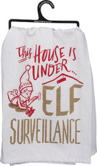 'Elf Surveillance' Kitchen Towel by PBK