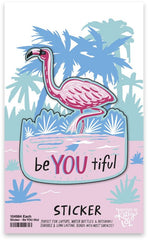 'be YOU tiful' Flamingo Sticker by PBK
