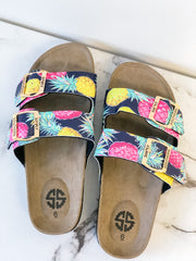 Double Strap Sandals - Pineapple