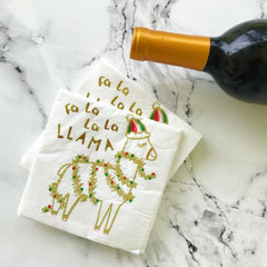 Fa La La La Llama Holiday Cocktail Napkins