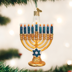 Glass Blown Ornaments - Hanukkah