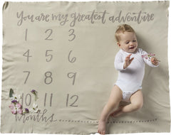 Monthly Milestone Swaddle Blanket by PBK